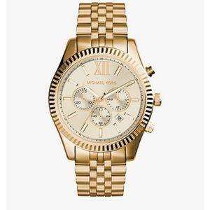 Michael Kors Lexington Gold Tone Watch